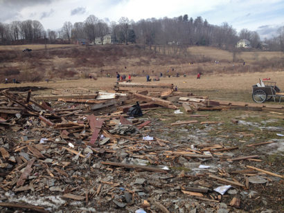 Conway, Massachusetts Tornado Volunteer Cleanup