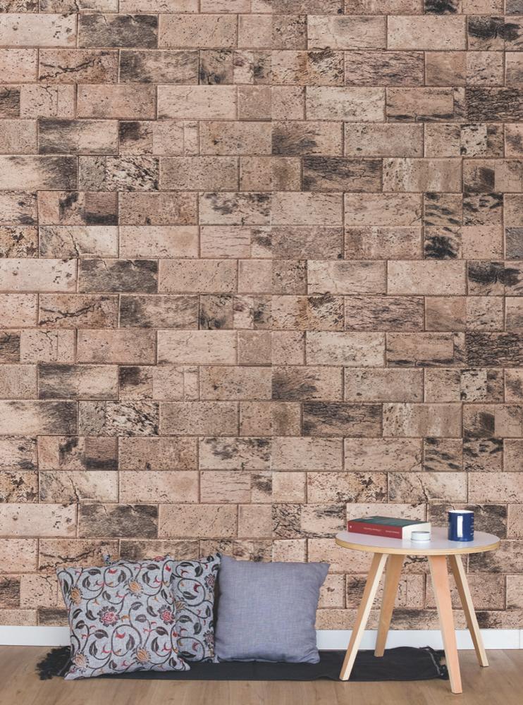 WE Cork Brick Style Natural Cork Paneling