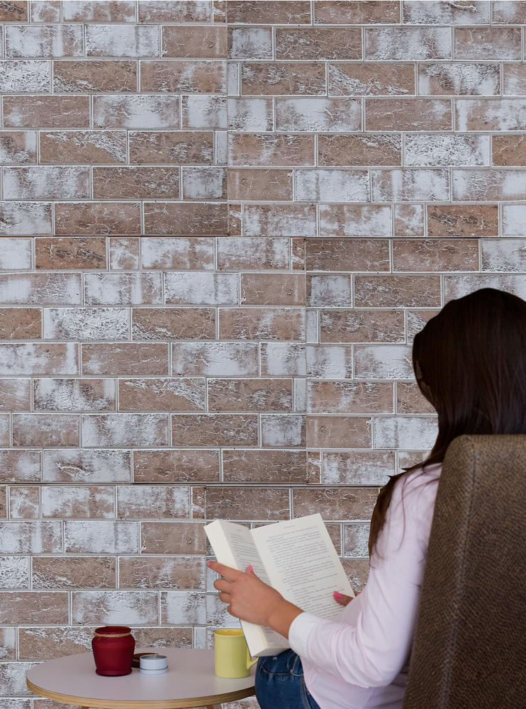 WE Cork Brick Style White Cork Paneling
