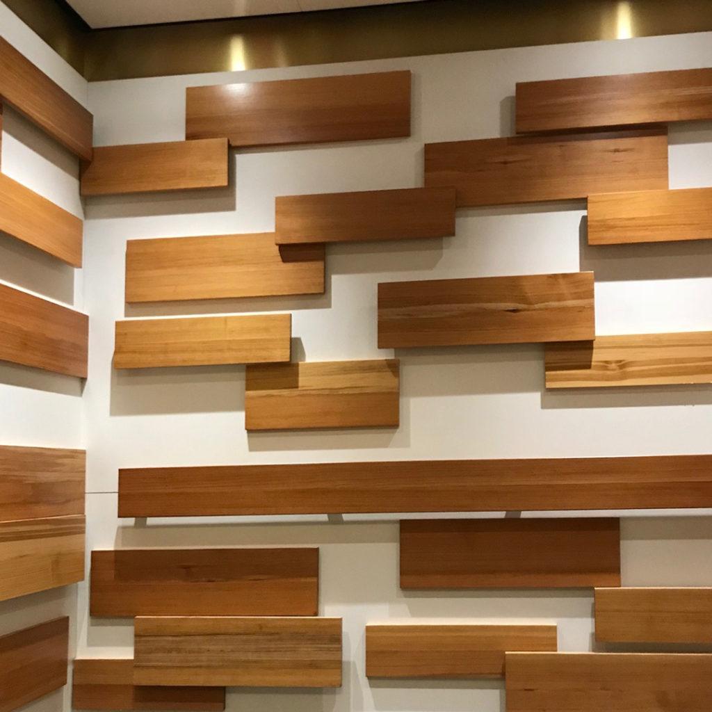 Reclaimed Heart Pine Millwork In Elevator, Cambridge, MA