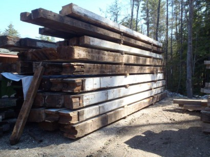 Reclaimed Beams from the Elizabeth Mill