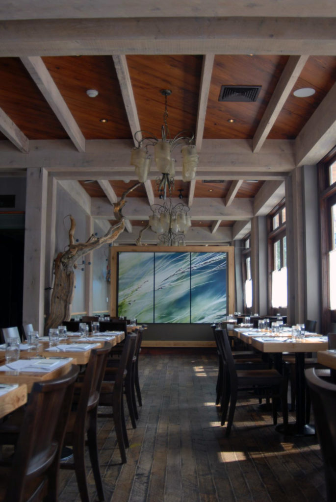 Reclaimed Factory Maple Flooring ~ Mistral Restaurant, Princeton, New Jersey