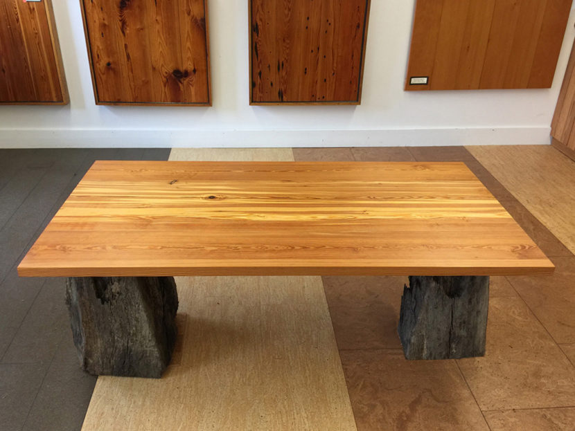 Finished Reclaimed Heart Pine Table Tops