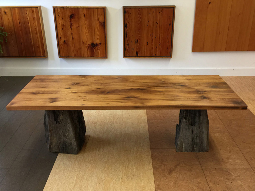 Finished Reclaimed Oak Table Tops