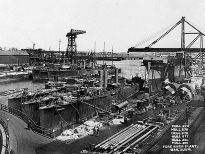 Fore River Shipyard in Quincy, Massachusetts in 1918