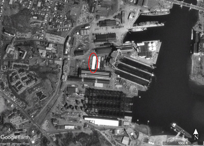 Fore River Shipyard In Quincy, MA 1995 Google Earth Image
