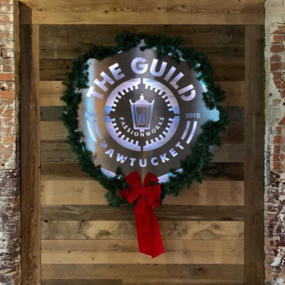 The Guild Brewery Reclaimed Wood Paneling