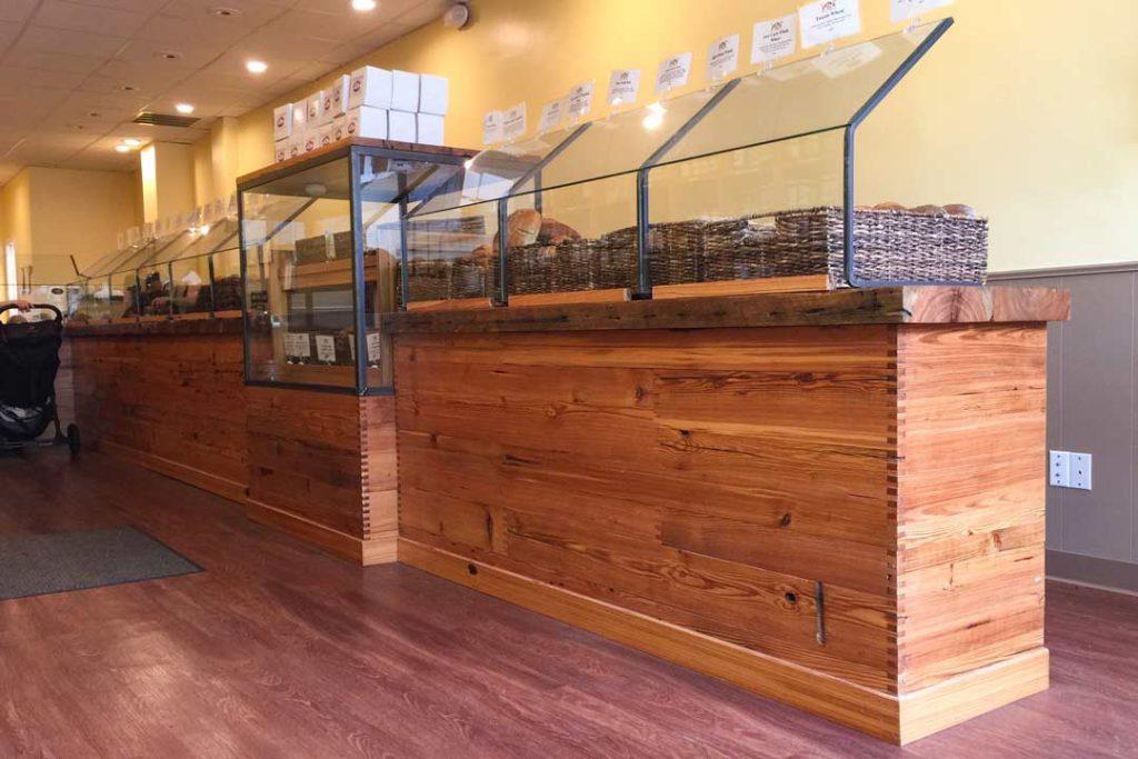 Reclaimed Heart Pine Bakery Paneling