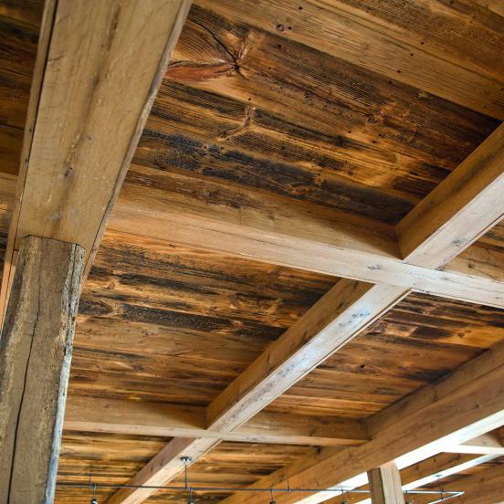 Longleaf Lumber Reclaimed Skip Planed Wood Paneling