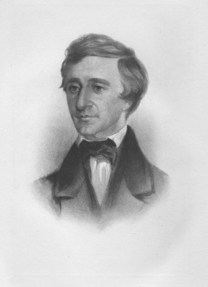 Henry David Thoreau in 1854 by Samuel Worcester Rowse
