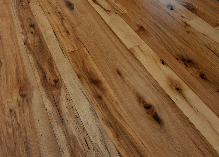 Antique Hickory Reclaimed Wood Flooring - Tung Oil Finish