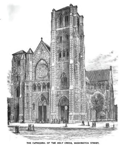 Cathedral of the Holy Cross in Boston in 1881 by Moses King