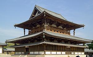Horyuji Temple in Japan with Shou Sugi Ban