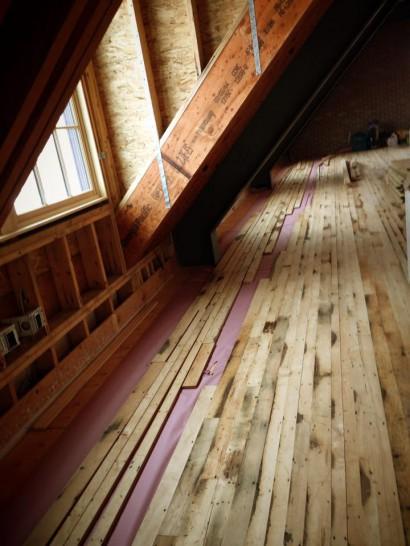 Installing Reclaimed Factory Maple Flooring