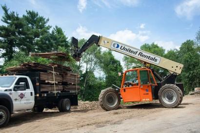 Loading Reclaimed Wood in Massachusetts