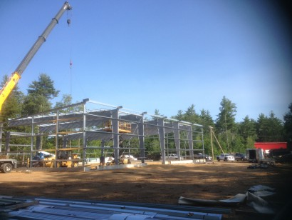 Construction of New Building at Longleaf Lumber Mill in Berwick, Maine