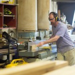 Hugh Makes Reclaimed Wood Countertops at Longleaf Lumber