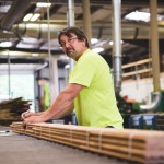 Marc Poirier Bundles Flooring at Longleaf Lumber