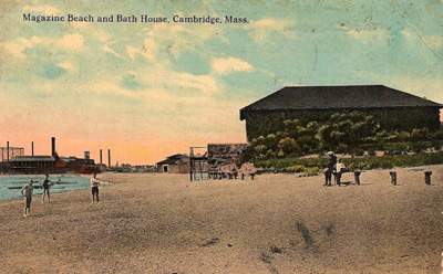Magazine Beach Bath House Postcard