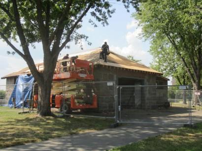 Magazine Beach Powder House Roof Repair