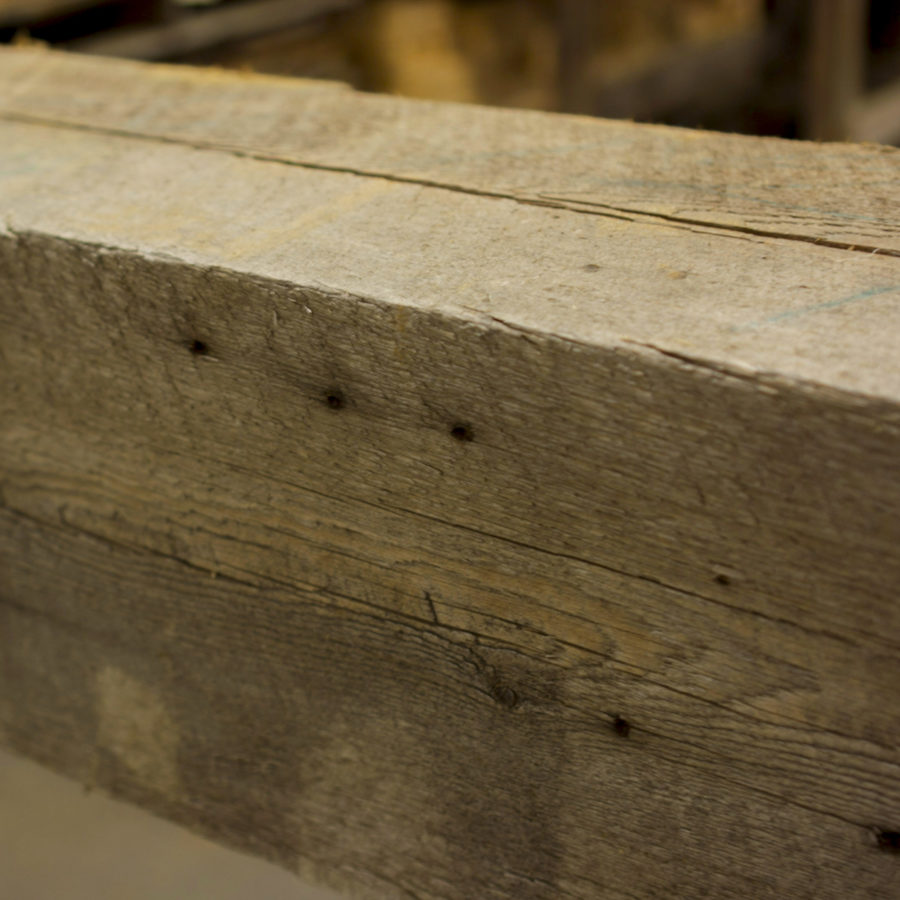 Reclaimed Beam With Original Saw Marks