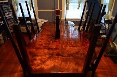 Salvaged Redwood Table