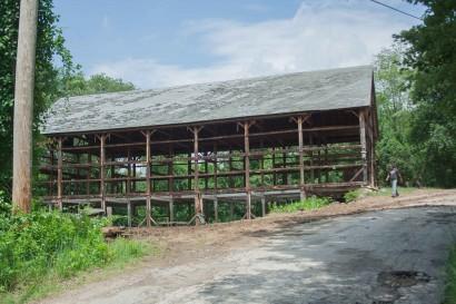 Dismantling New Braintree McKay Road Barn
