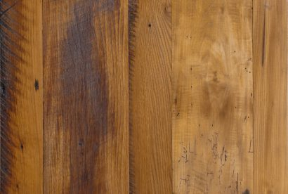 Midwestern Mixed Hardwoods Skip-Planed Reclaimed Flooring - Waterlox Finish