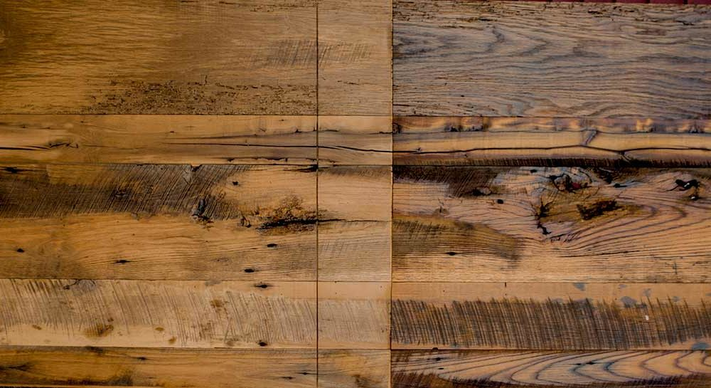 Mixed Reclaimed Hardwoods Skip-Planed Paneling