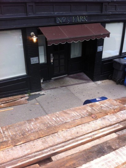 Salvaging Wood from the Amory-Ticknor House