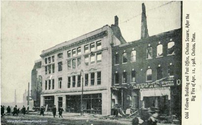 Odd Fellows Hall in Chelsea, MA After Great Fire of 1908