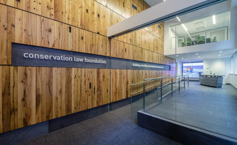 Rustic Oak Reclaimed Wood Paneling in Boston Office Building