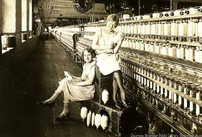 Women at Pepperell Mills in Biddeford, Maine
