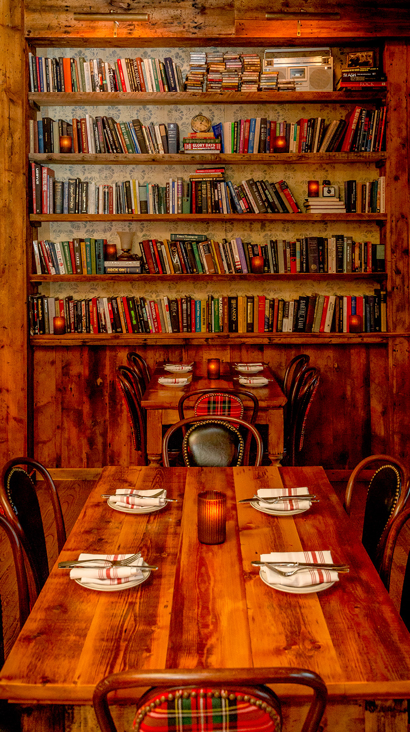 Reclaimed Wood Paneling, Tables And Shelves In South Boston Restaurant
