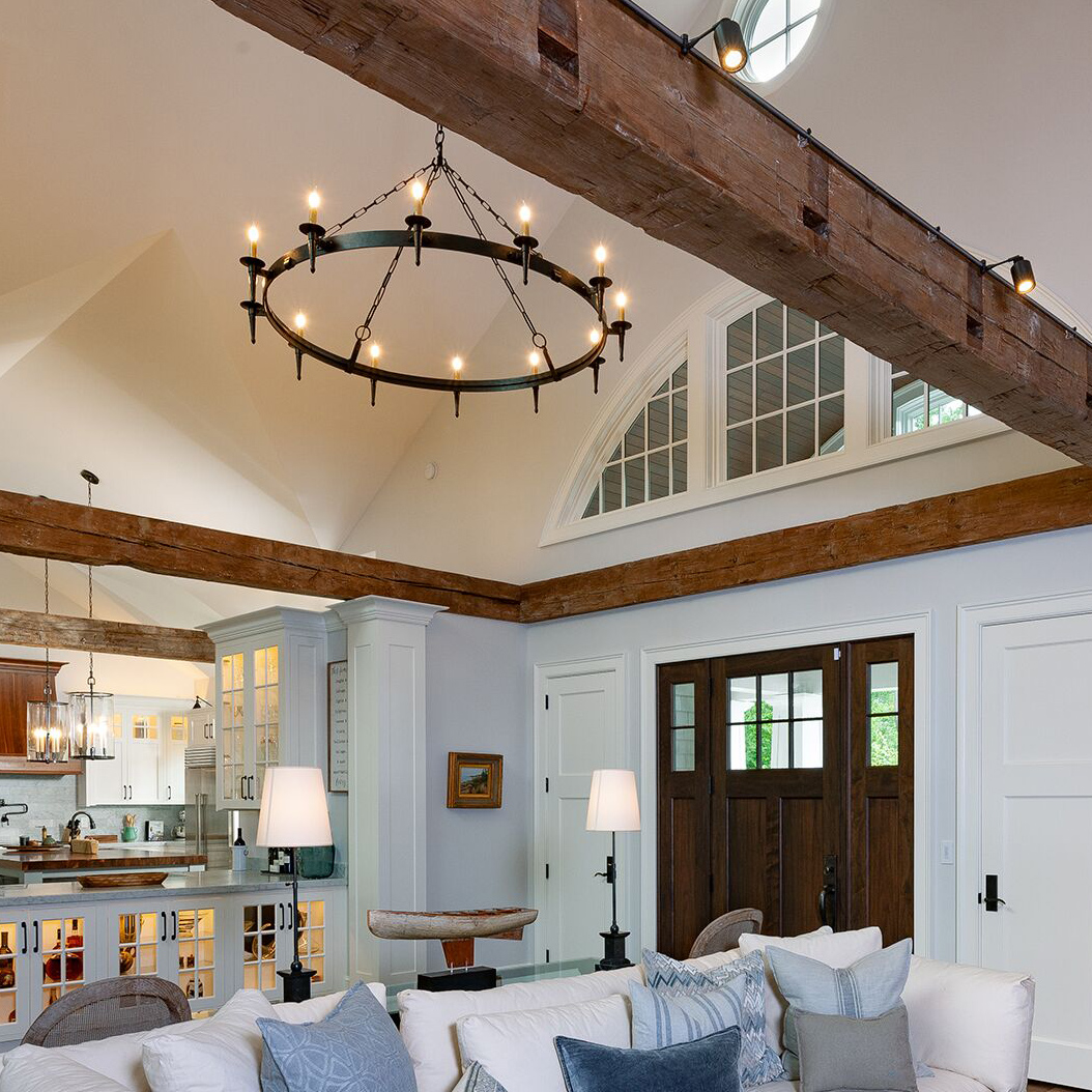 Antique Hand-Hewn Beams In Private Home