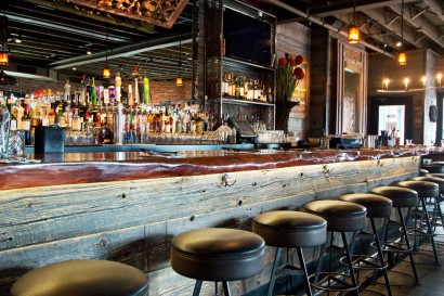 Reclaimed Barn Board Bar Paneling