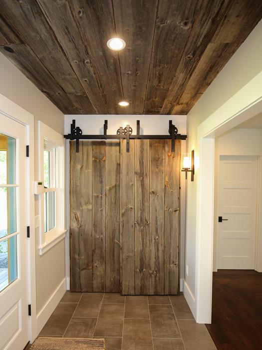 Barn Board Ceiling and Barn Door