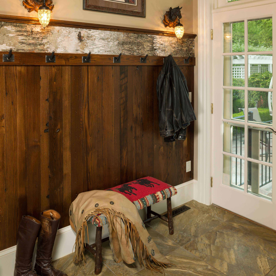 Reclaimed American Chestnut Paneling ~ Private Residence