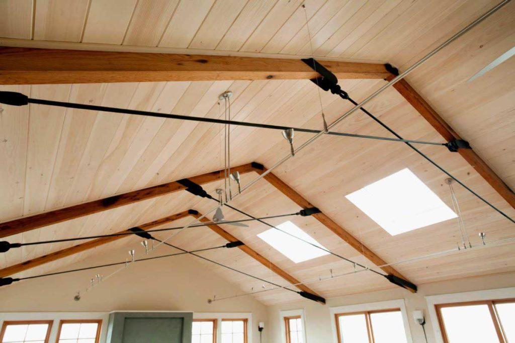 Reclaimed Roughsawn Ceiling Beams ~ Martha's Vineyard, Massachusetts