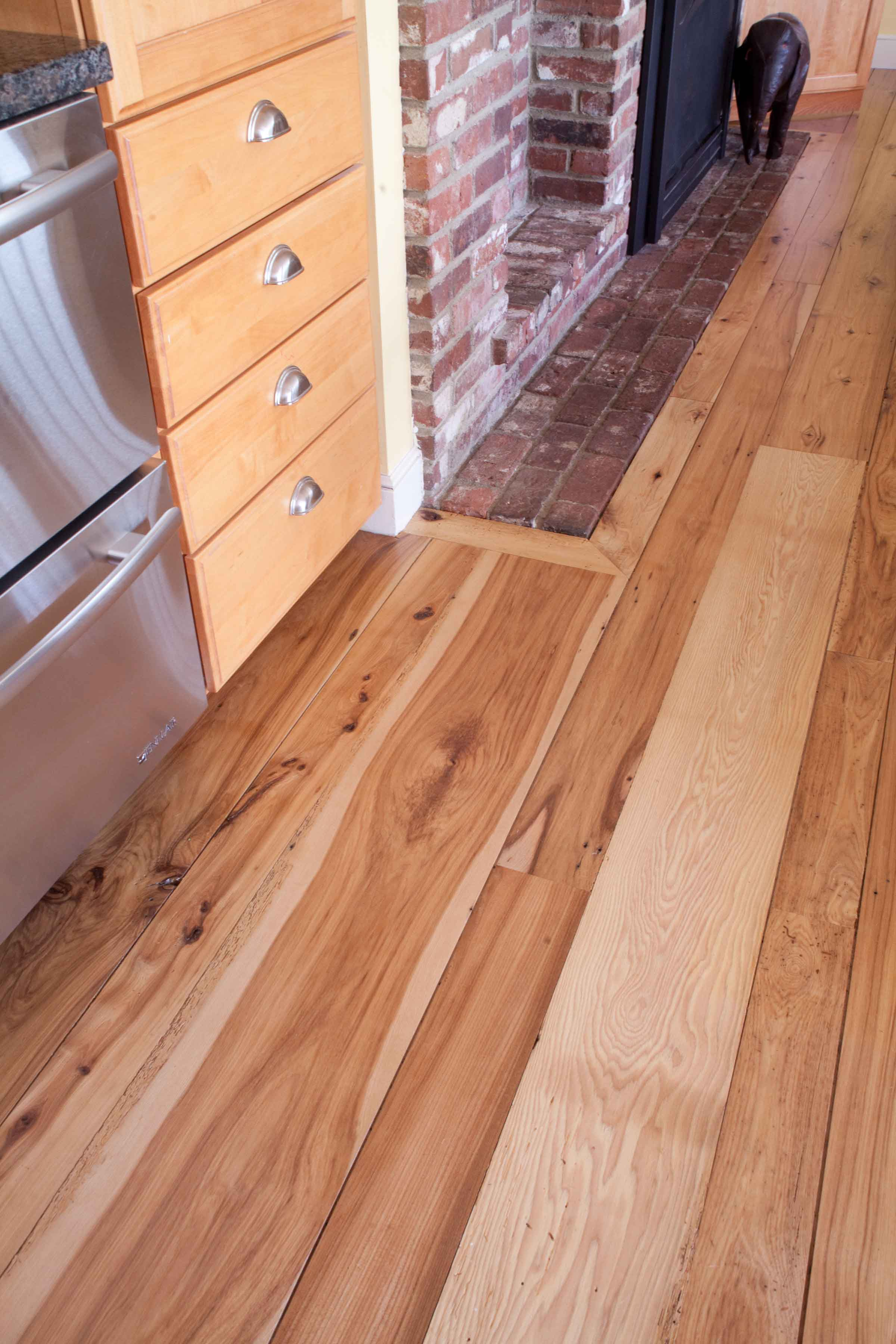 Longleaf lumber reclaimed hickory mixed width reclaimed for Reclaimed decking boards
