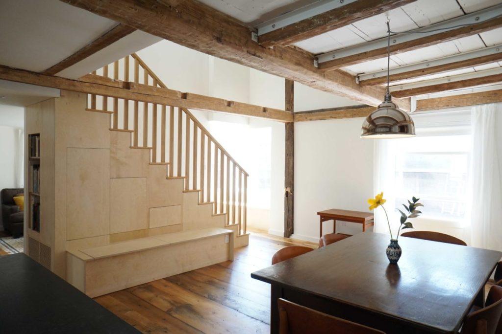 Reclaimed Wide Eastern White Pine Flooring & Stair Treads