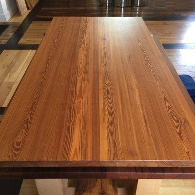 Reclaimed and Finished Wood Top