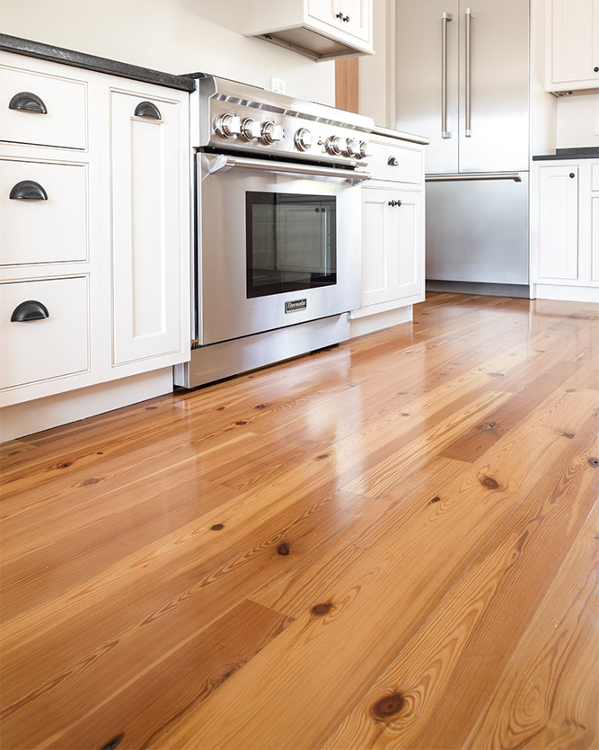 Select #2 Flatsawn Reclaimed Heart Pine Flooring