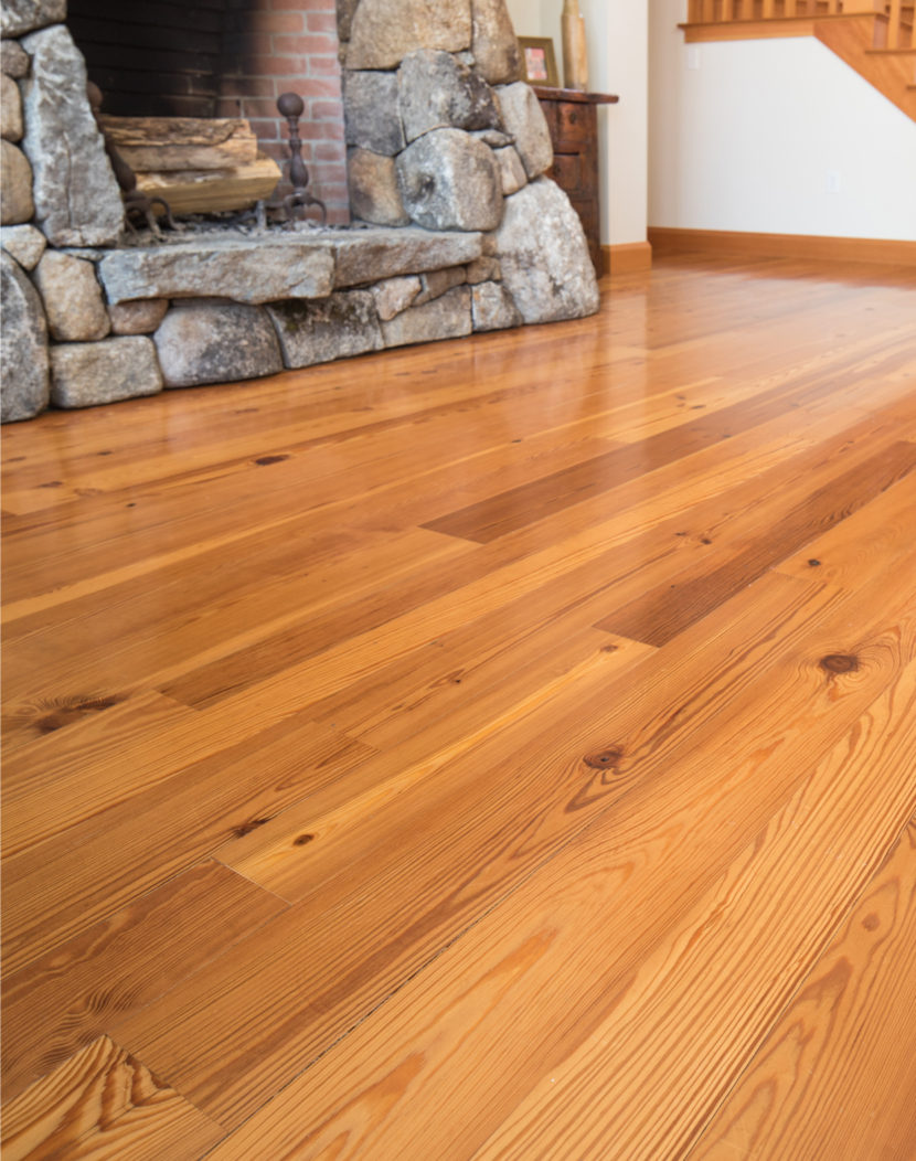 Select Flatsawn Grade Reclaimed Heart Pine Flooring
