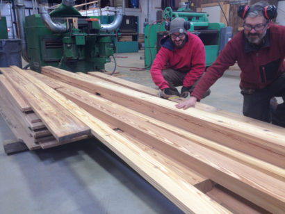 Fore River Shipyard Reclaimed Heart Pine Being Milled