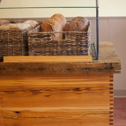 Reclaimed Heart Pine Paneling in Bakery