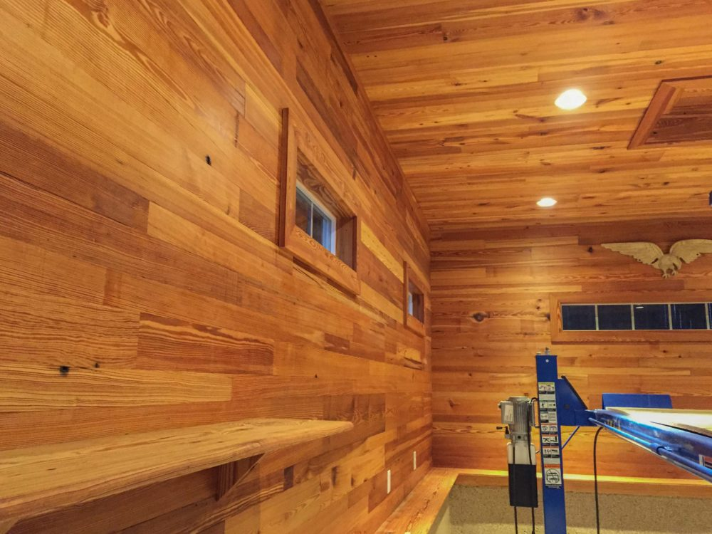 Reclaimed Heart Pine Wall Paneling