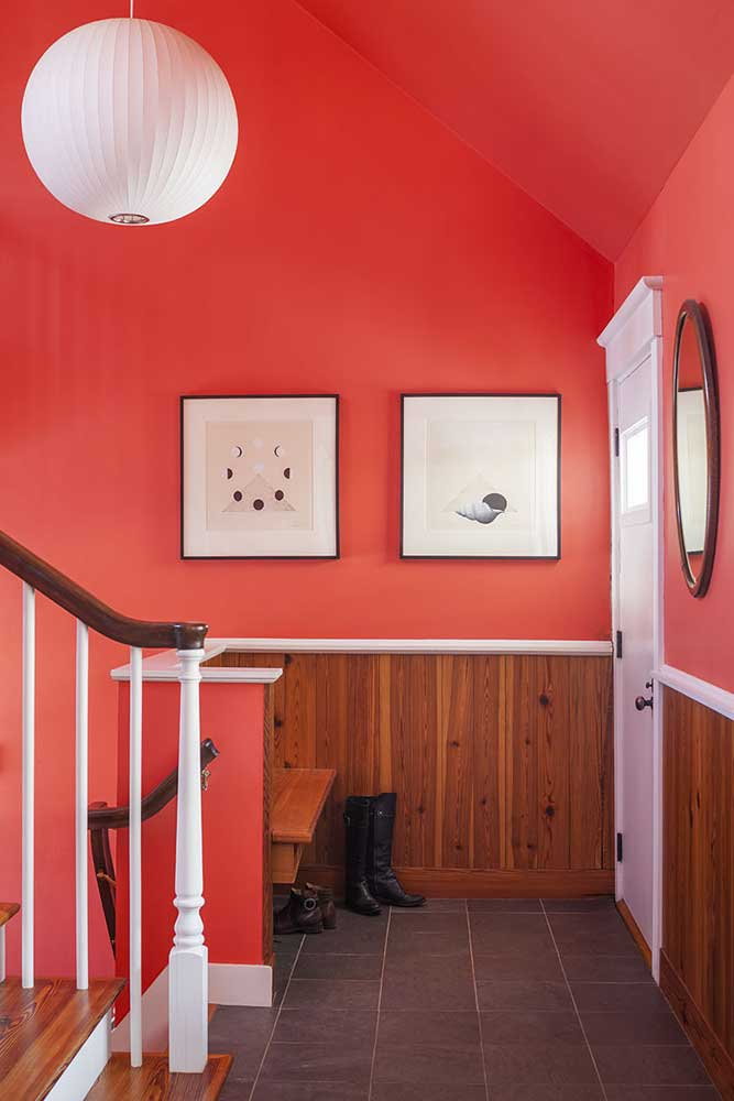 Reclaimed #2 Flatsawn Heart Pine Paneling ~ Yarmouth, Maine Home