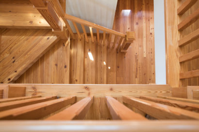 Select #2 Flatsawn Reclaimed Heart Pine Stairtreads