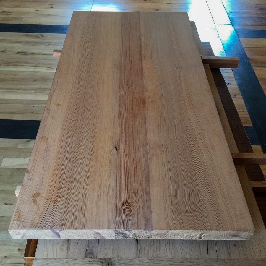 Reclaimed Heart Pine Unfinished Top